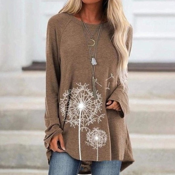 Denim, Boots, and Bling Tops - Dandelion Tunic in Beige